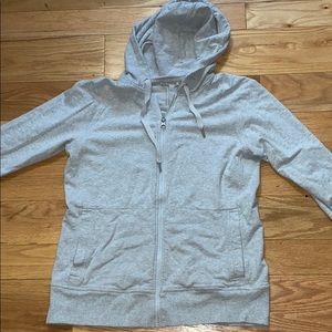 Lulu lemon grey zip up hoodie